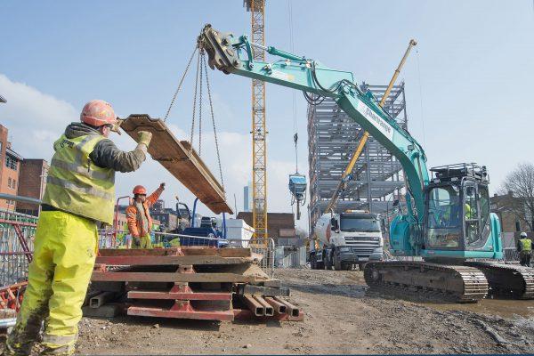Chartrange works on site