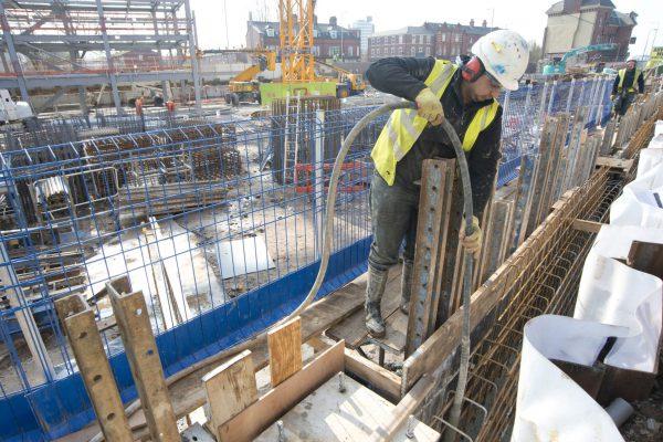 Chartrange excavation works at Ellesmere Street, Manchester