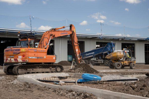 Construction works on Food Hub, Liverpool